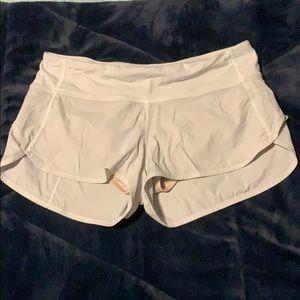 White Lulu shorts